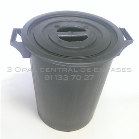 CUBO DE BASURA 100L CON TAPA  44X63