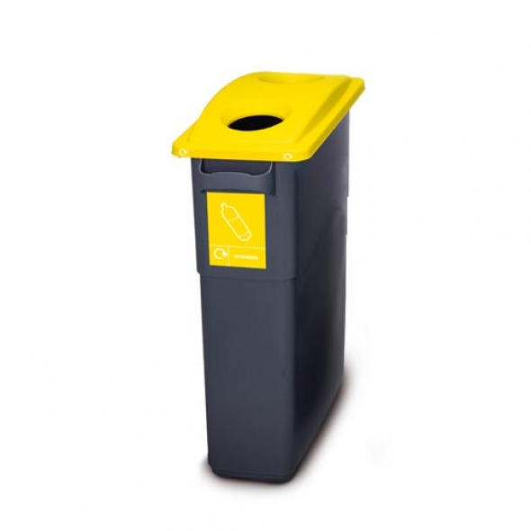ECOSORT 60L SISTEMA RECICLAJE MINI AMARILLO