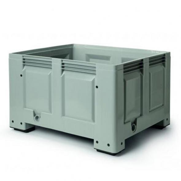 SUPER BOX, PALOT CERRADO 4 PIES 1200x1000x780 GRIS