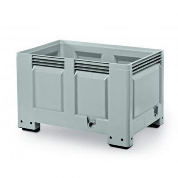 SUPER BOX, PALOT CERRADO 4 PIES 1200x800x760 GRIS